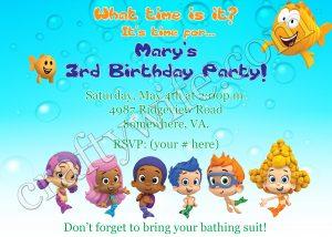 www.craftywife.com | Bubble Guppies birthday card option three