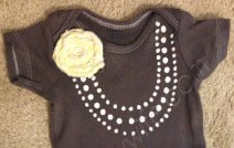 DIY Necklace Onesie