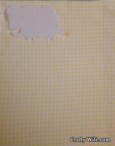 The first time it just cut through the yellow and white checkered fabric and not the Heat Bond.