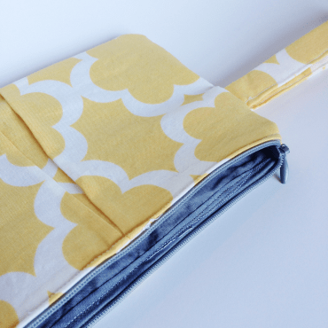 Pleated Clutch with Invisible Zipper