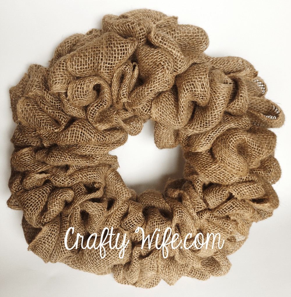 "Because I used 8"" burlap and really squished all my loops together, my wreath looks very full."