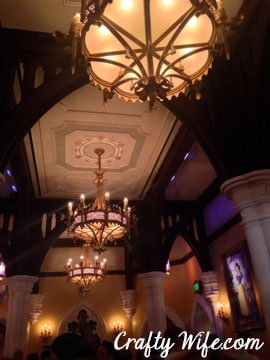 The Chandeliers were gorgeous!