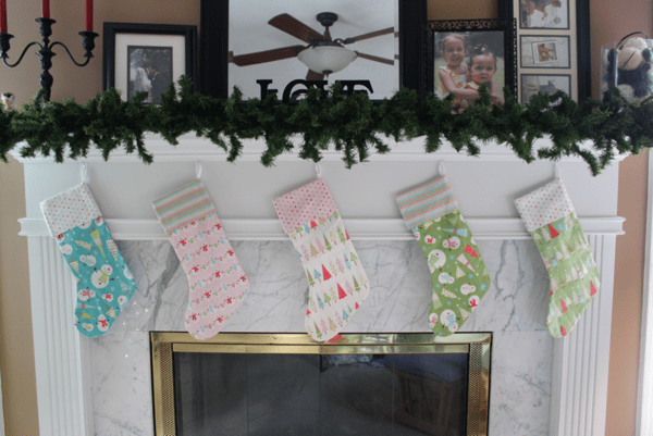 Christmas Stocking with Cuffs from Sew Like My Mom