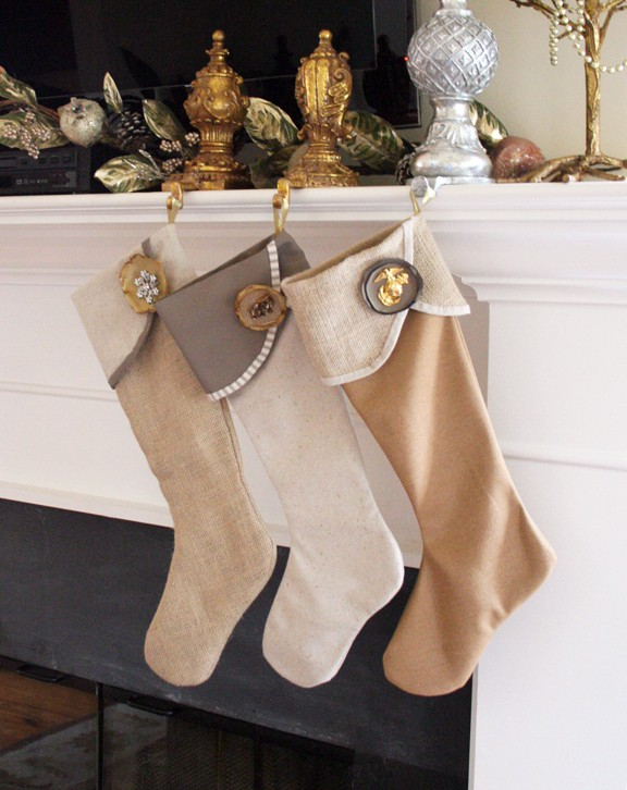 diy christmas stockings from handmade homegrown blog - Homemade Christmas Stockings