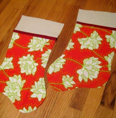 Embroidered Christmas Stockings from Noodle Head
