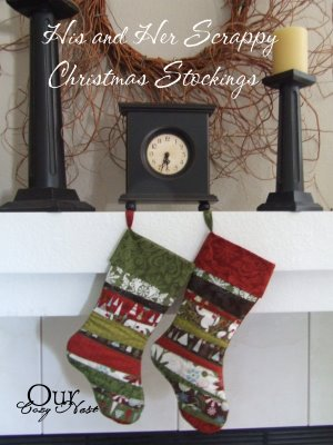 His & Her Scrappy Stockings from Moda Bake Shop