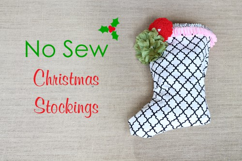 No Sew Christmas Stocking from Project Nursery