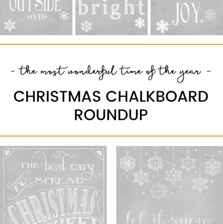 Decorate your home for the holiday's without spending a lot of money on pricy decorations with these 15 Christmas Chalkboard Printables!