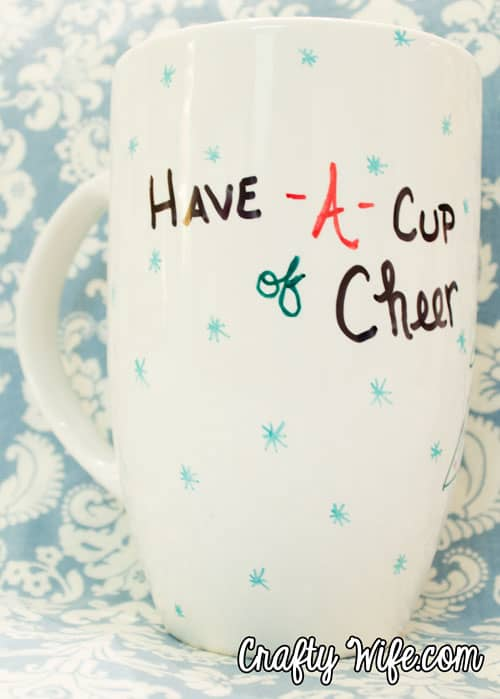 have-a-cup-of-cheer christmas mug from Crafty Wife