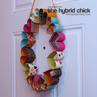 The-Hybrid-Chick---Paper-Heart-Wreath
