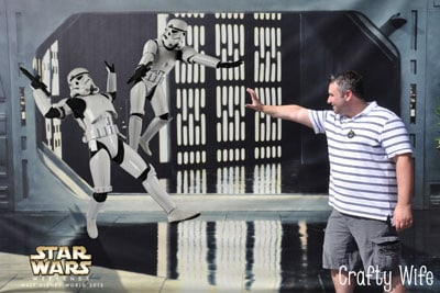This is a professional Disney photo from Star Wars Weekends 2013.  Probably one of my all-time favorites and a great memory to look back on!