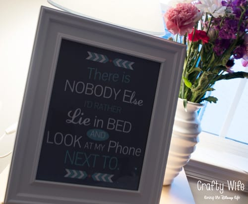 Bedside Printable from Crafty Wife