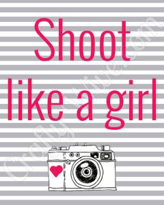 Shoot Like a Girl Printable