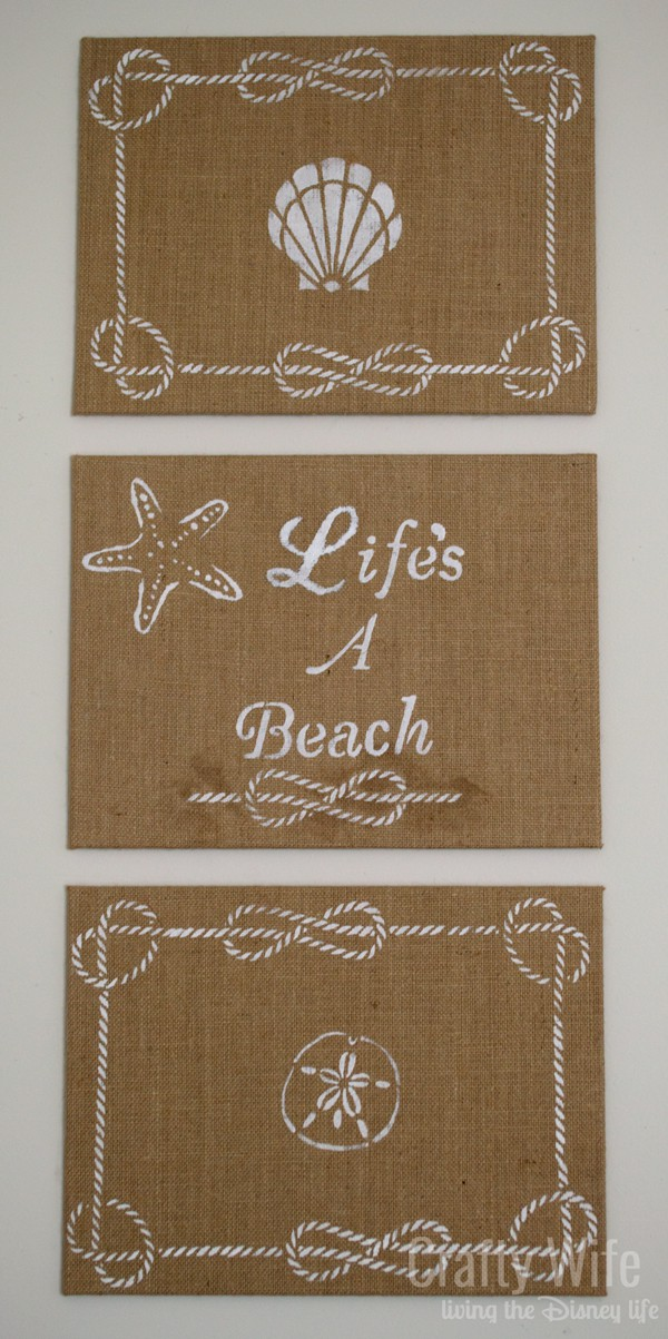 Life's a Beach Canvas Art from Crafty Wife