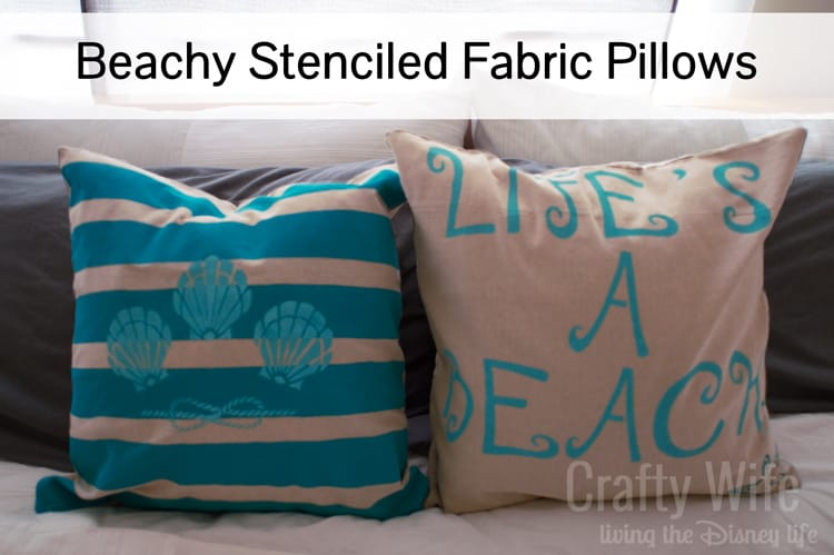 Beachy-Stenciled-Fabric-Pillows