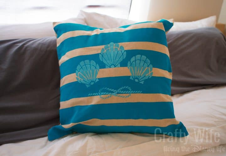 Stenciled Pillow Cases