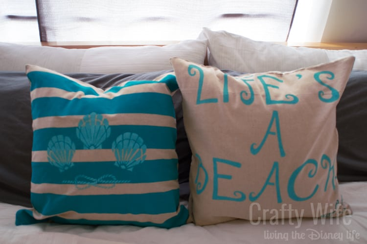 Stenciled-Fabric-Pillows