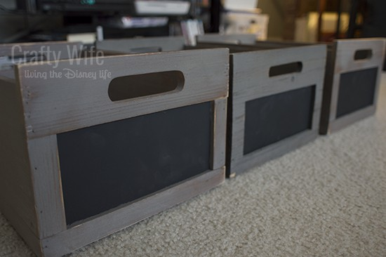 Organizing with Chalkboard Bins