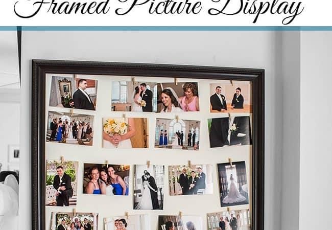 DIY Framed Picture Display