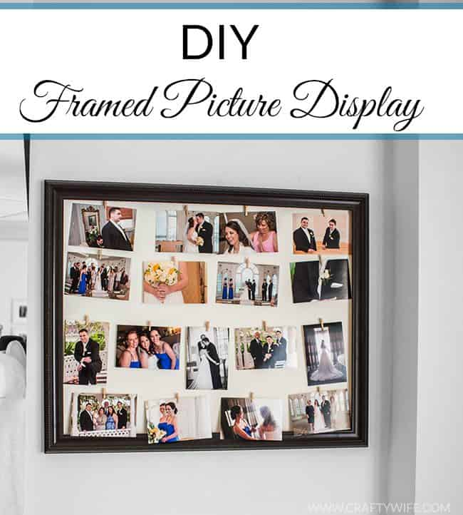 DIY Framed Picture Display