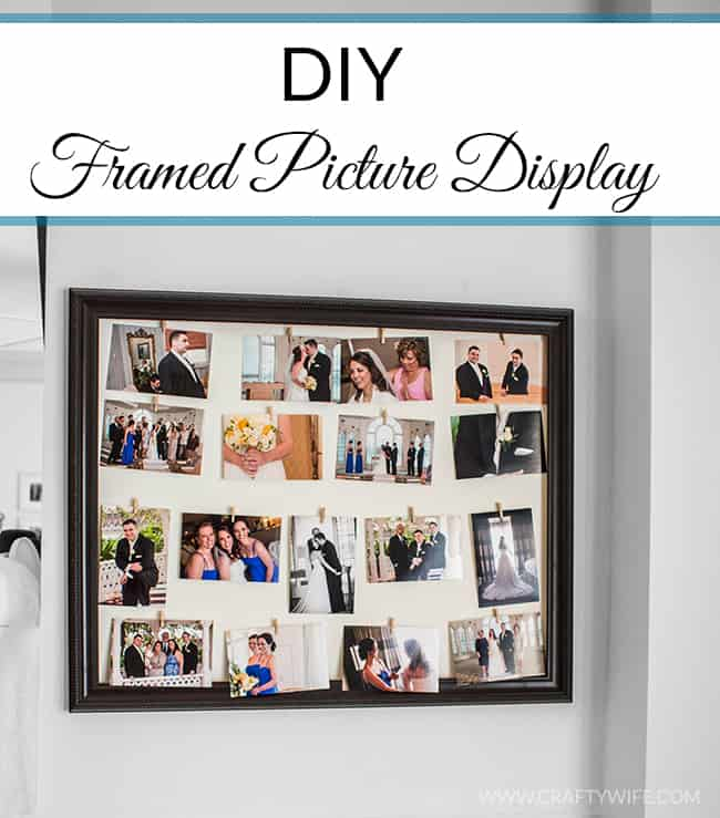 Easy Framed Picture Display by Crafty Wife