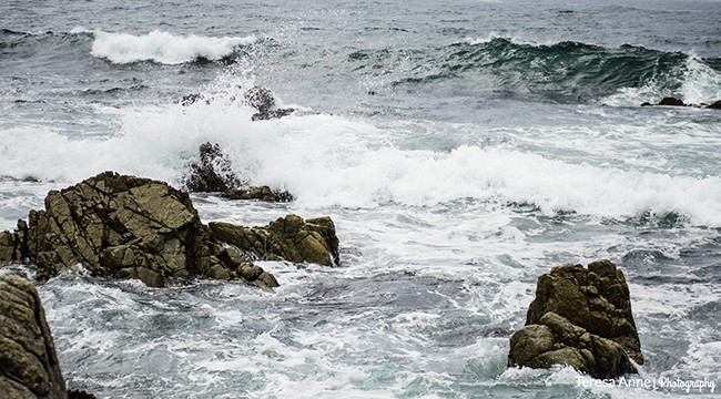I love watching waves crash against the rocks.