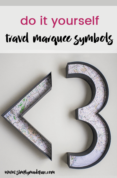 These travel marquee symbols are a fun diy craft project to make in an afternoon and a great way to remember recent travels.