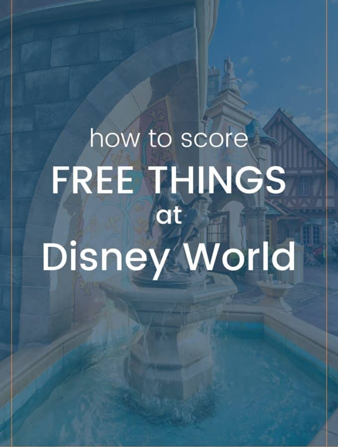 Disney + Free should go together. Save some money and click through to the blog to see the full list of 12 free things at Disney!