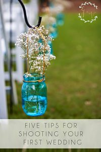 five tips for shooting a wedding
