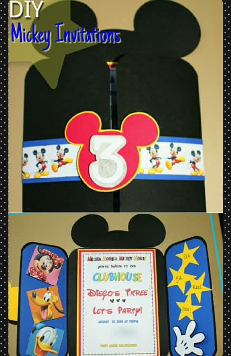 DIY Mickey Invitations