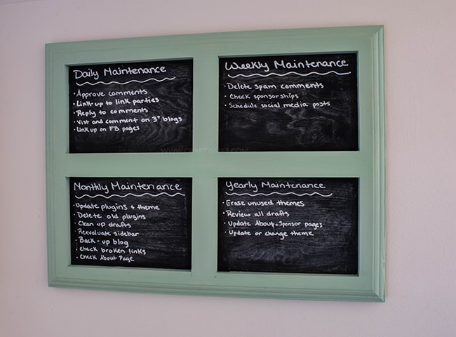 Chalkboard Framed Check list