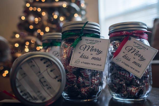Mason Jar Themed Christmas Gift