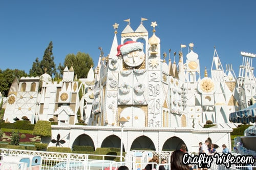 I only like riding It's a Small World at Christmastime, at Disneyland.