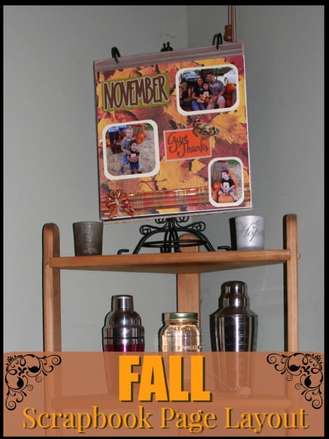 This fall scrapbook page layout that is cute and easy to make, but also interchangeable for all the different seasons!