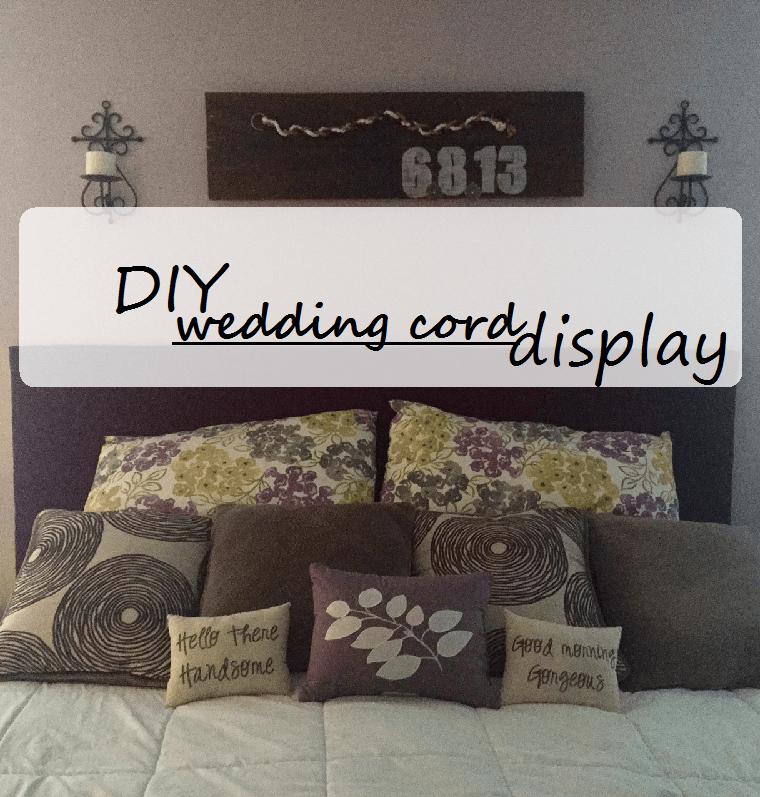 DIY Wedding Cord Display