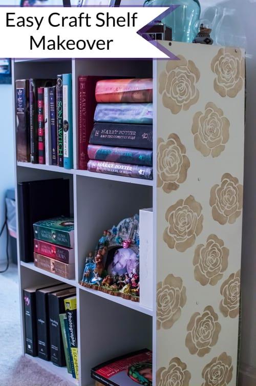 Easy Craft Shelf Makeover