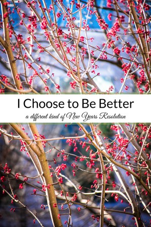 I Choose to Be Better