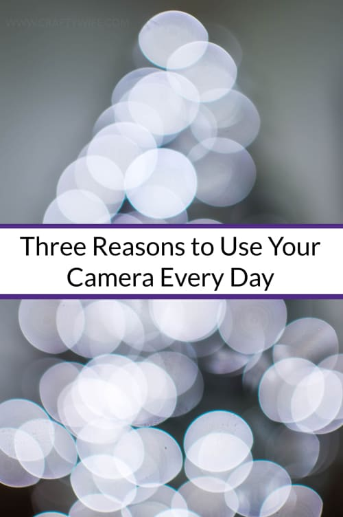 Three reasons you should use your camera every day to help you get better at using your DSLR.
