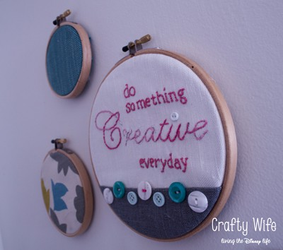 Embroidered Hoop Art by Crafty Wife