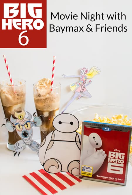 Celebrate the release of Disney's Big Hero 6 with an easy Silhouette craft and a movie night with Baymax & friends! #bighero6movienight #cbias #ad @target
