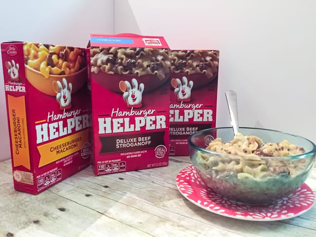 It is so easy to survive the first trimester when you have quick & easy recipes like Hamburger Helper! Pick up 3 today & get a rebate for free ground beef! https://ooh.li/4ddea4b