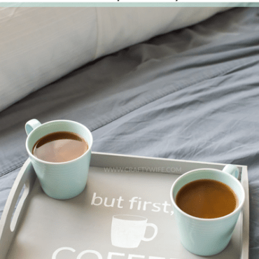 But first, Coffee Chalk Paint Tray