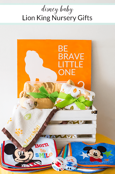 To match a safari themed nursery, I pulled out my silhouette and customized items from the Disney Baby Lion King collection at @Walmart. #ad #TBD