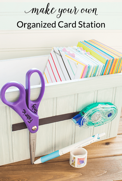 Make a organized card station to keep track of all of your Hallmark greeting cards so you can send smiles to family and friends for any occasion! #ad
