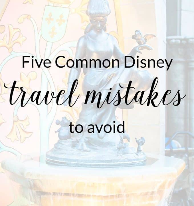 Every Disney goer should avoid these ridiculously common Disney travel mistakes in order to have a fun, memorable, and stress-free vacation!
