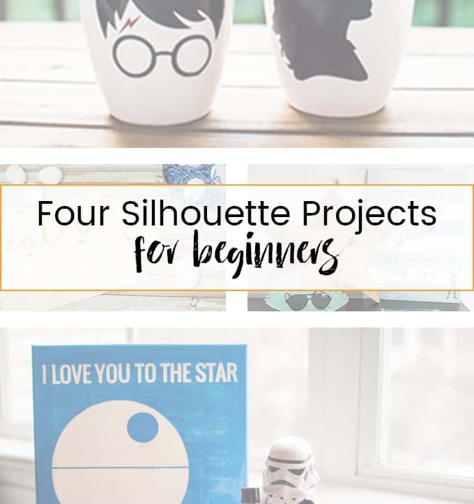 If you're wondering where to start, check out these four Silhouette projects for beginners that will get you used to working with different types of vinyl and materials!