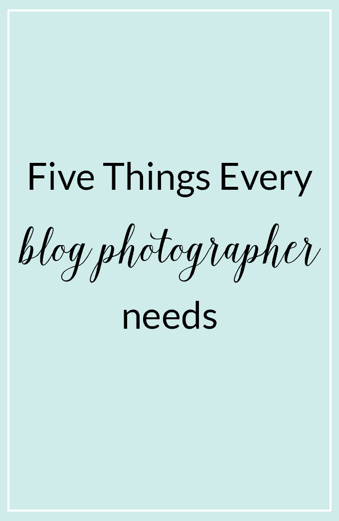 Enhance your blog photography with these five tools every blogger needs to achieve better photos!