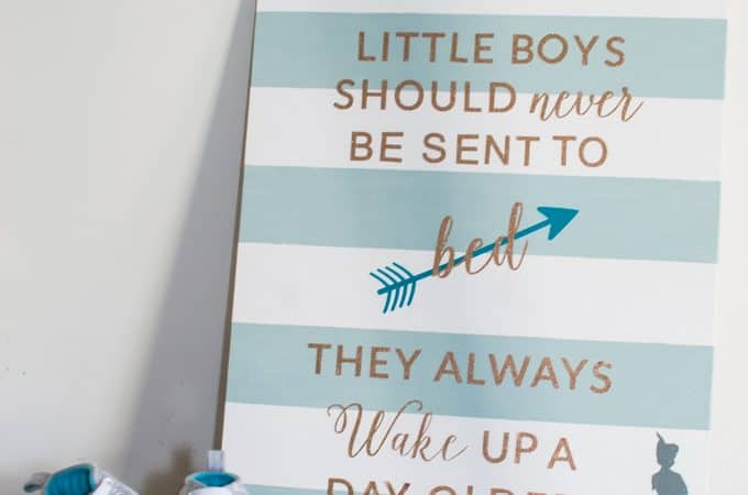 DIY Peter Pan Nursery Wall Art