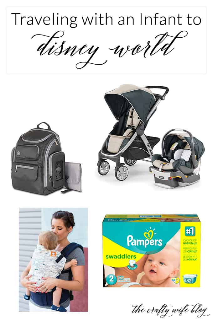 These tips & tricks will help you leave more room in your suitcase and less items to lug through the airport when traveling with an infant to Disney World!