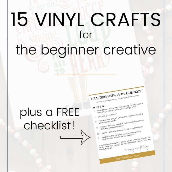 15 Beginner Vinyl Crafts